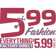 599 Fashion coupons
